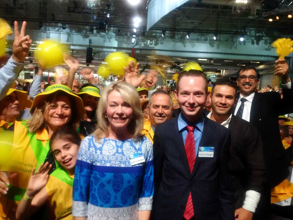 With MP Bergen at massive gathering in Paris for Freedom for Iran.