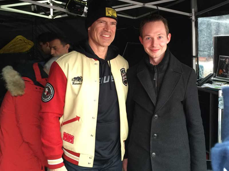 With St. Albert`s own, Mark Messier at Rogers Hometown Hockey held in St. Albert.