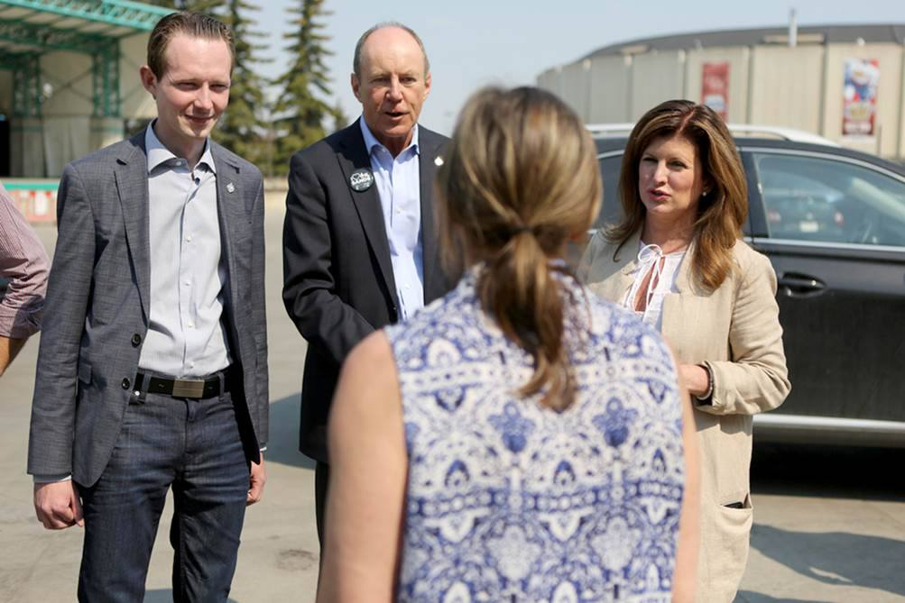 With Rona Ambrose and MP Kerry Diotte at the Northlands shelter for Ft. McMurray evacuees.