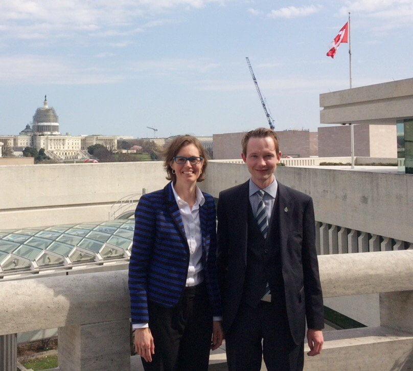 With Gitane De Silva, Alberta`s Trade Representative in Washington, D.C.