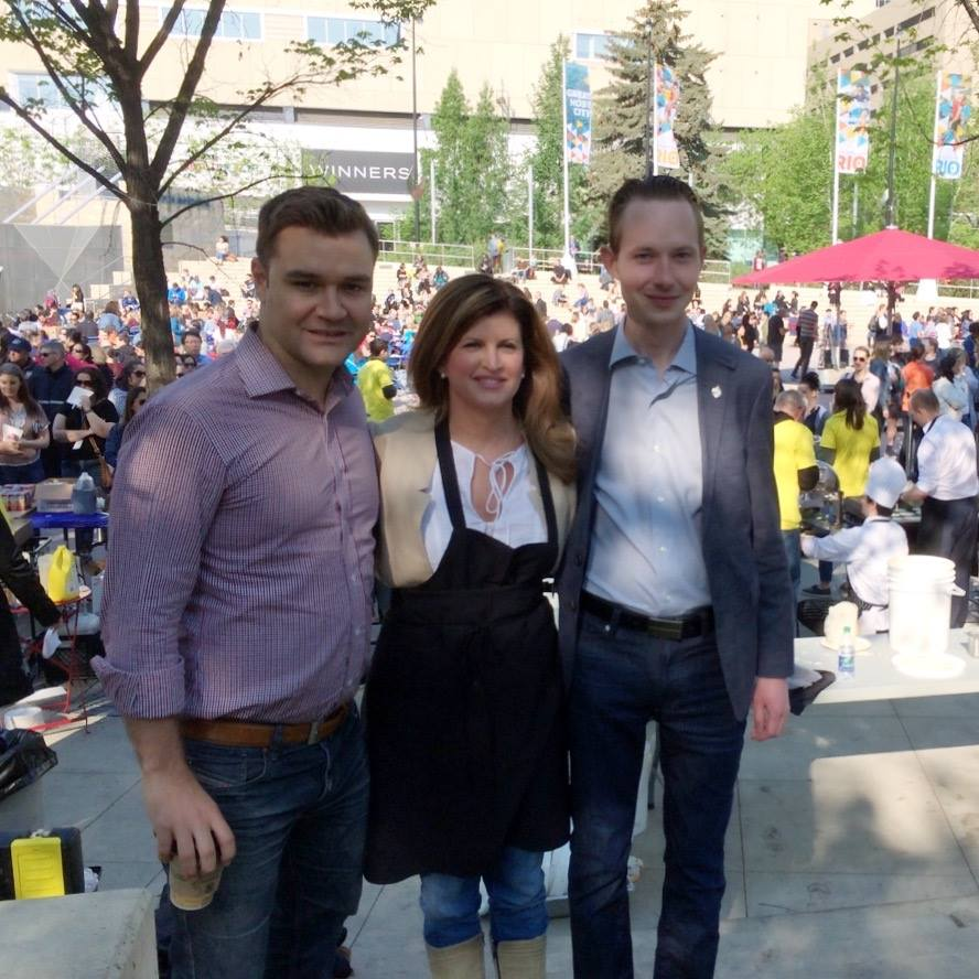 With Rona Ambrose and MP Matt Jeneroux at a breakfast fundraiser for Ft. McMurray evacuees.