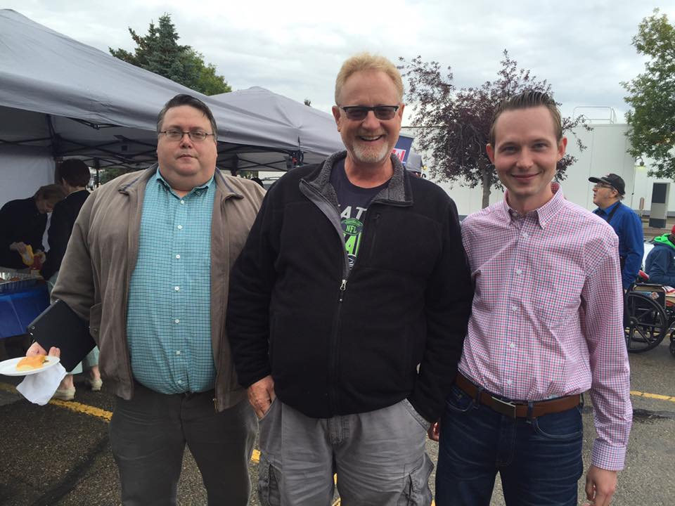Michael with Greg Schell and Councillor Wes Brodhead