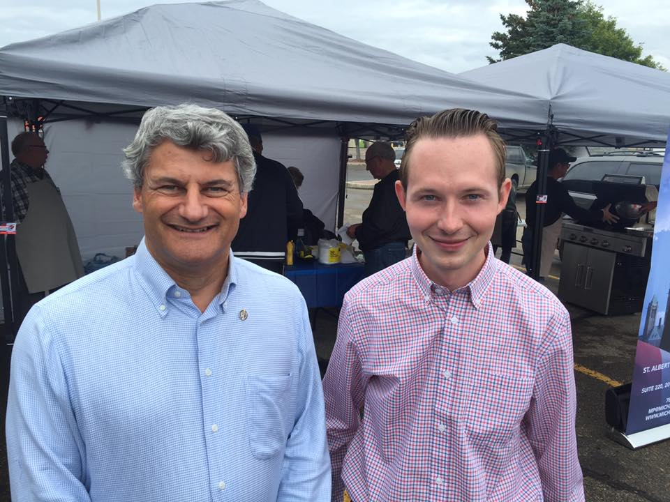 Michael with colleague MP Gerard Deltell
