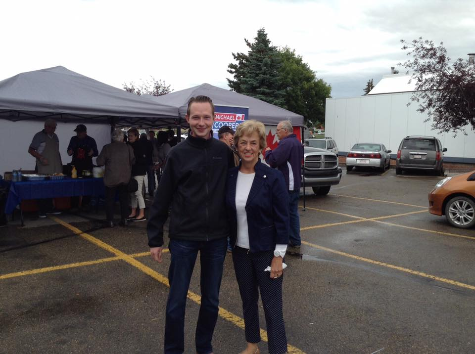 Michael with former St. Albert MLA Mary O'Neill