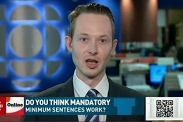 Power and Politics (CBC) April 15, 2016 – Mandatory Minimum Sentencing ruling