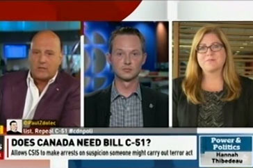 Power and Politics (CBC) – Bill C-51 / Aug. 2, 2016
