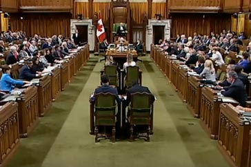 Question Period Foreign Affairs Minister Gesture