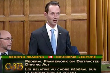Speech on Bill C-373-November 30, 2017- Distracted Driving