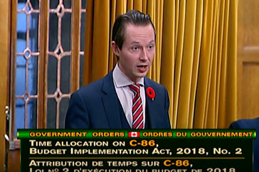 MP Cooper Questions Finance Minister on Balancing the Budget – November 6th