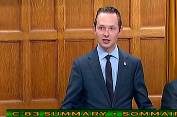 MP Cooper Speech on Bill C-83 – October 19th & 23rd