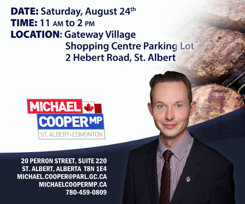 Meat and greet with MP Michael Cooper August 24, 2019